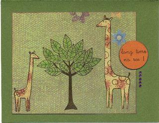 Giraffe reunion