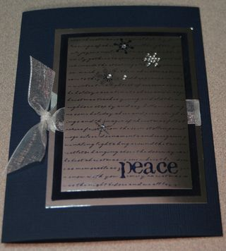 Peace mirror ribbon