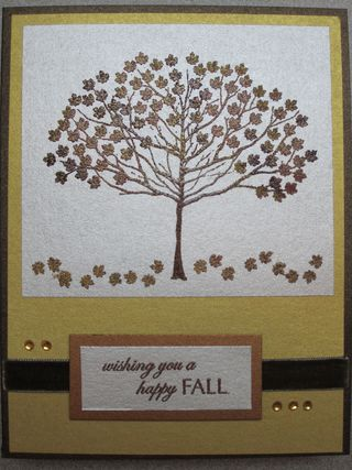 Embossed tree front