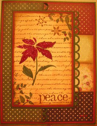 Peace collage poinsettia