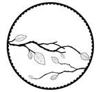 Leafy Branch Globe E1850