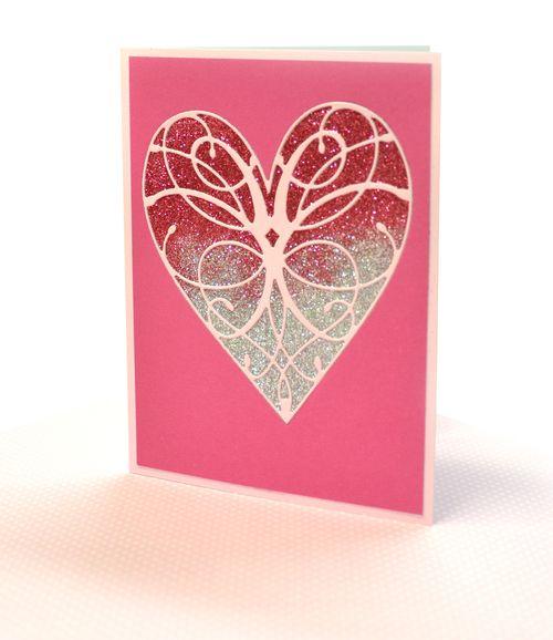 Sm ombre glitter card