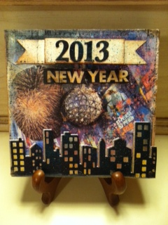 New year canvas