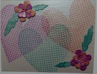 Gingham Heart Card