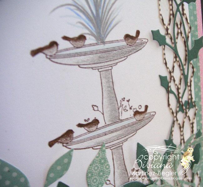 Fountain trellis detail