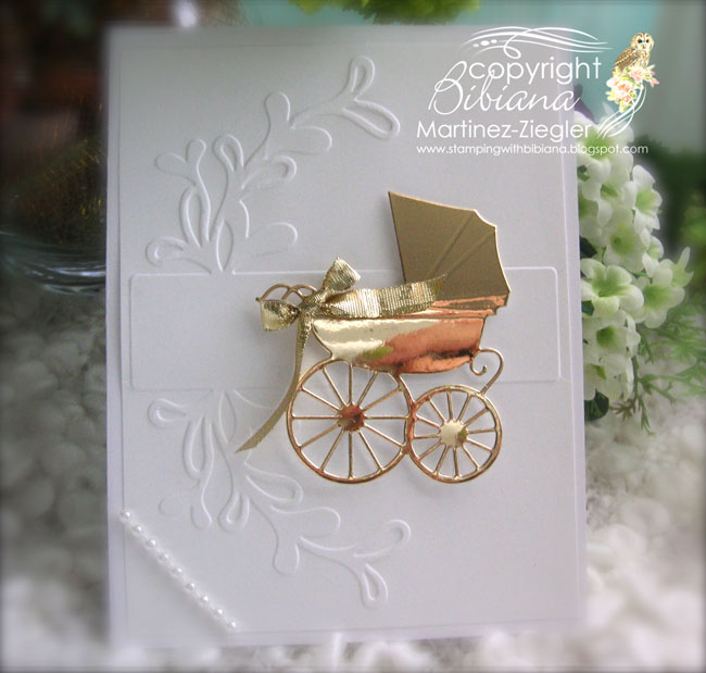 Baby carriage gold front