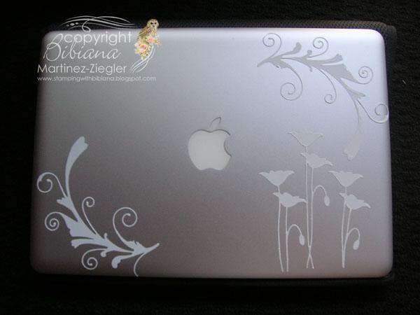 Laptop skin flourish front 2