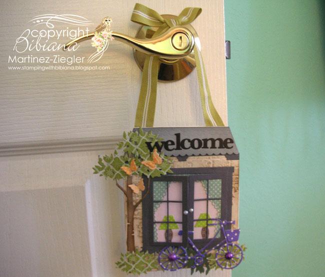 Door knob welcome other room