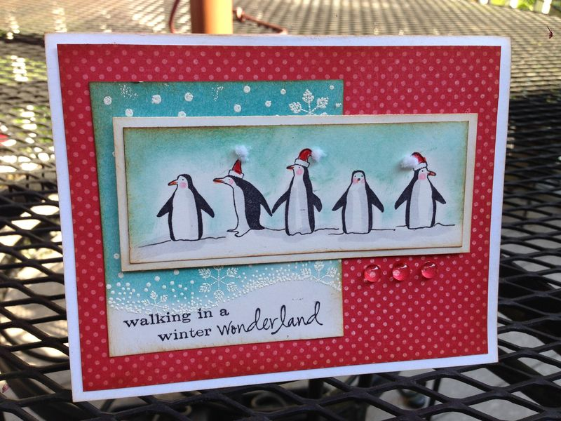 Memory Box Peguin card