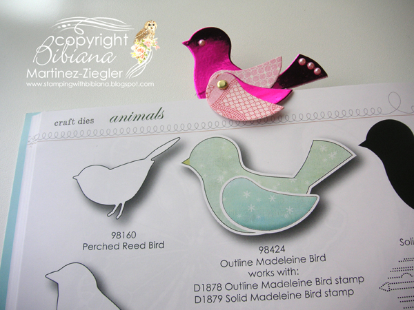 Bird bookmark thanks 1 bird on book