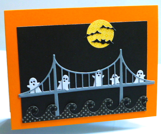 Halloween-card-ghosts-bridge-bats-Oceana Border-Jean-Okimoto