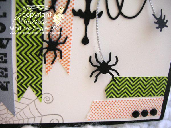 Halloween chandelier detail