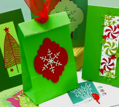 Christmas with Poppystamps class at Impress taught by Jean Okimoto