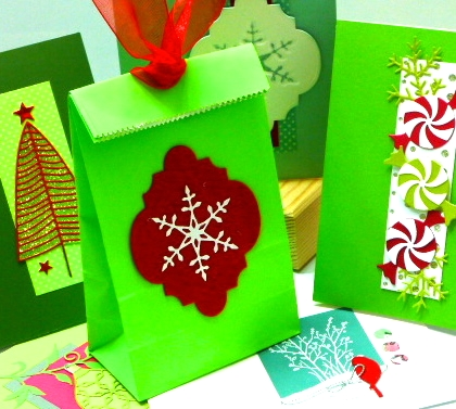 Christmas With Poppystamps class at the Tukwila Impress