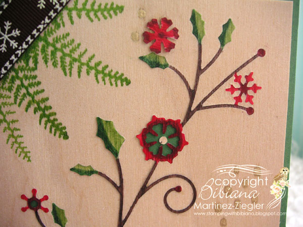 Xmas wood detail