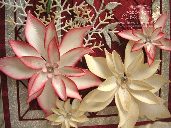 Xmas pps red bird flowers