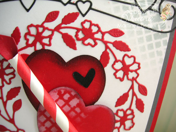 Hearts wreath detail