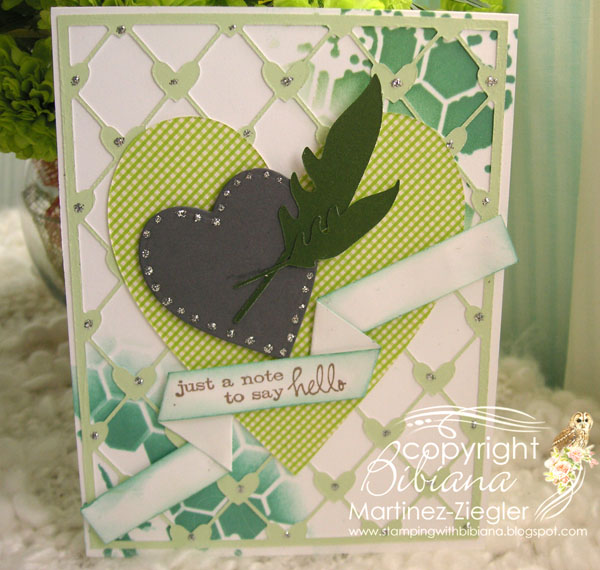 Heart green front