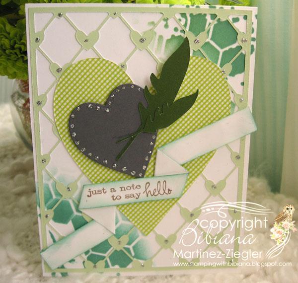 Heart green front