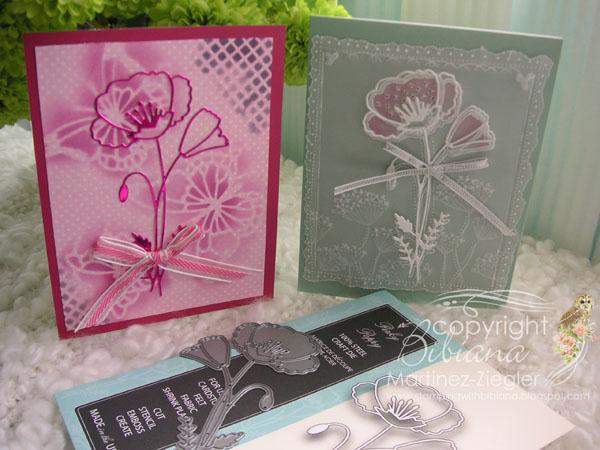 Poppy stencil pink both
