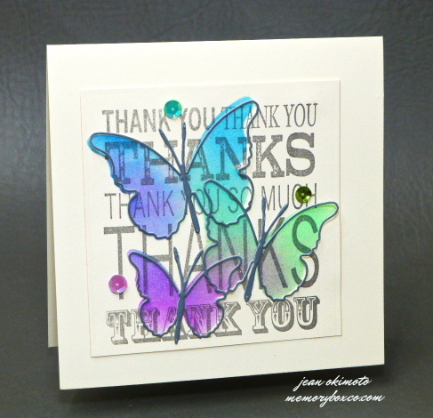Jean Okimoto-Memory Box-stencils-diecuts-butterflies-Radiant Neons-Brilliance-techniques-classes