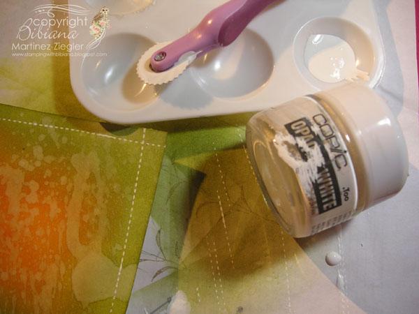 Faux stitching bckgd paint