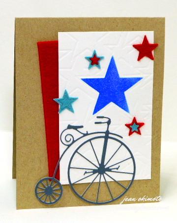 Memory Box Vintage Bicycle-Memory Box Designer Stencils-Memory Box Cosmic Stars-dies-stenciis-bikes-stars-Jean Okimoto
