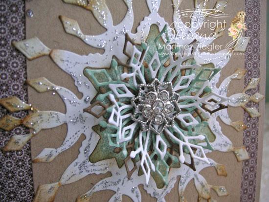 Snowflake limoges detail
