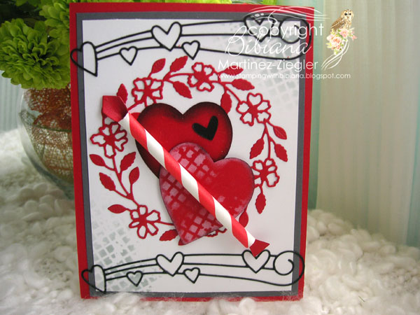 Hearts wreath front
