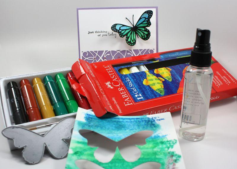 Butterfly card supplies