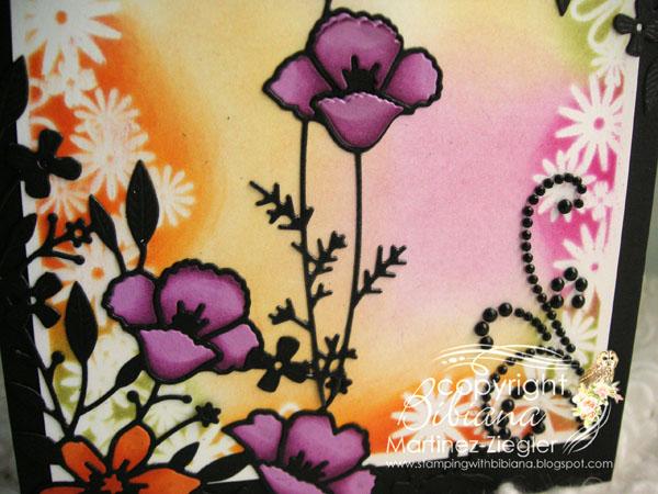 Poppies vibrant detail 1