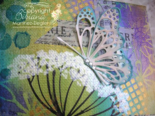 Sten canvas detail butterfly