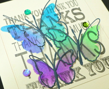 Jean Okimoto-Memory Box-Floating Butterflies-diecuts-stencilling-Radiant Neons-Brilliance-techniques-thank you