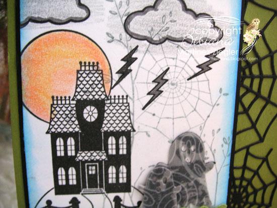 Halloween scene detail