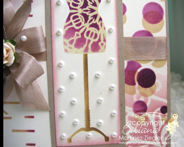 Stencil dress detail pearls