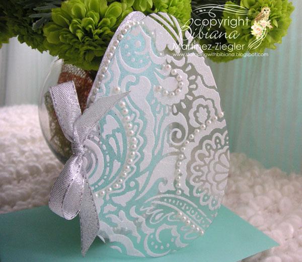 Egg paste glitter front egg