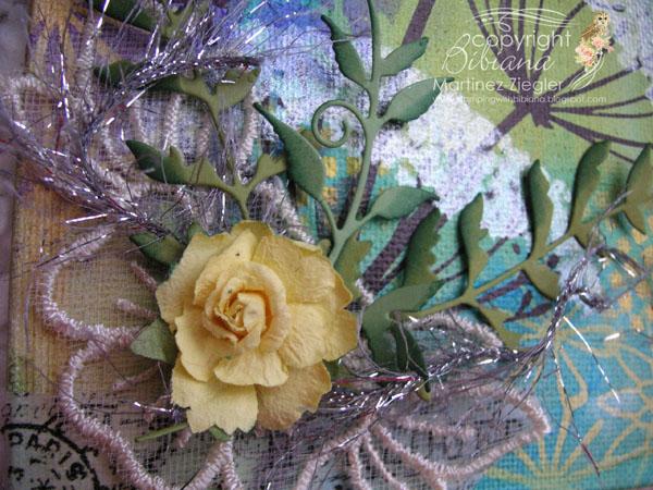 Sten canvas detail flower