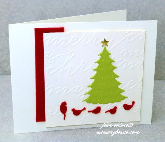 Jean-Okimoto-Memory-Box-Script-Merry-Frosted-Spruce-Tree-Resting Birds