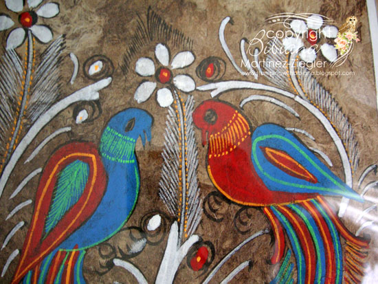Amate painting detail