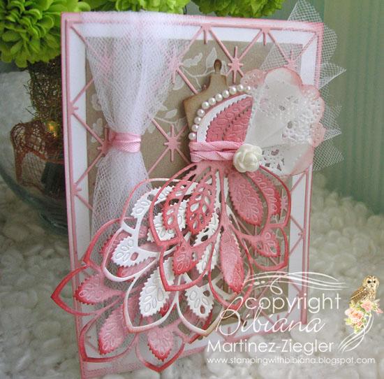 Pink dress form front