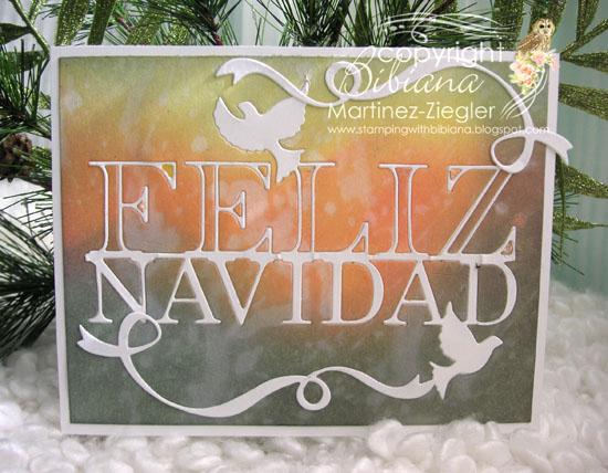 Feliz navidad inks bckg front