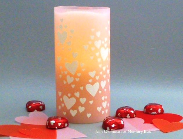 HeartConfetti-OpenStudioStitchedHeartLayers-MemoryBox-Valentines-JeanOkimoto-candle-ImagineCrafts-VersaMarkDazzle