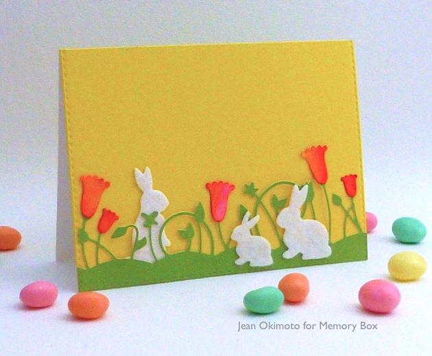 SpringtimeBunniesMemoryBox-SpringBorderMemoryBox-StitchedRectangleLayersOpenStudio-JeanOkimoto-PeerlessWatercolors