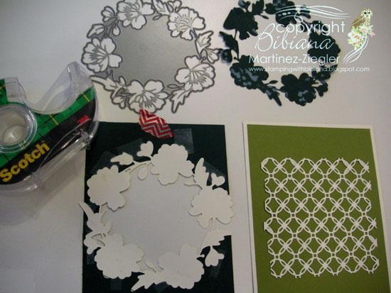 Green wreath step 1
