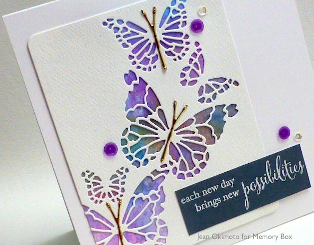 MemoryBoxReverseButterflyCollage-MemoryBoxFairylandButterflies-MemoryBoxNewPossibilities-ButterflyChallenge-JeanOkimoto-ImagineCrafts
