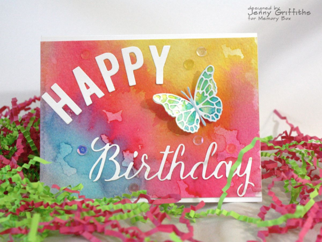 Watercolor Birthday Wishes-Jenny Griffiths