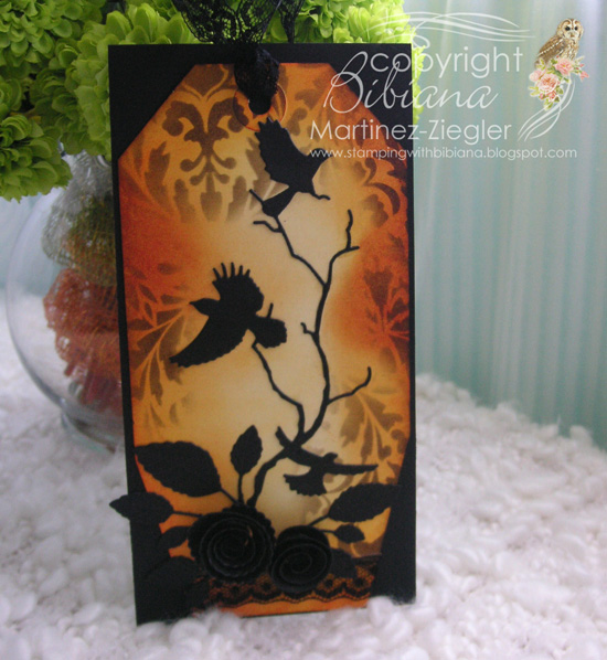 Halloween tag crows front