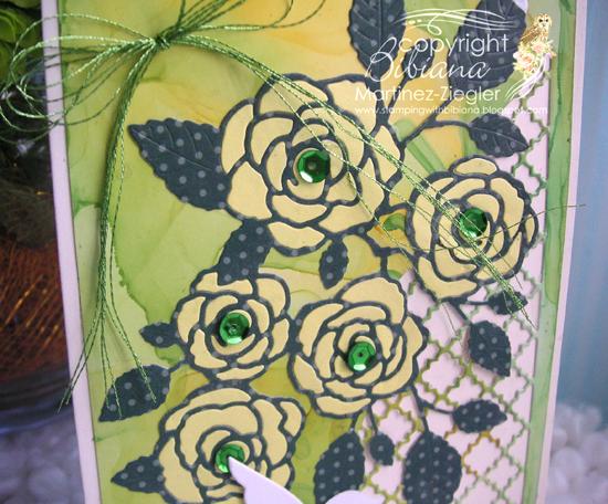 Yellow green flower detail
