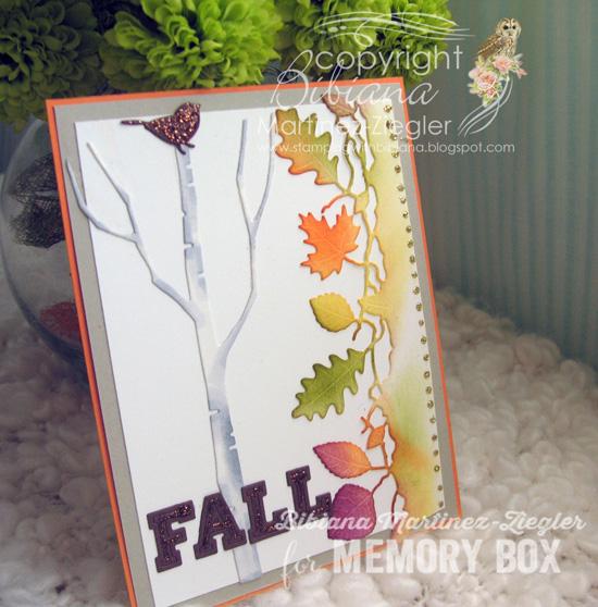 Fall birch side
