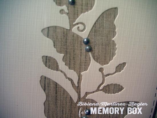 Butterflies wood negative detail